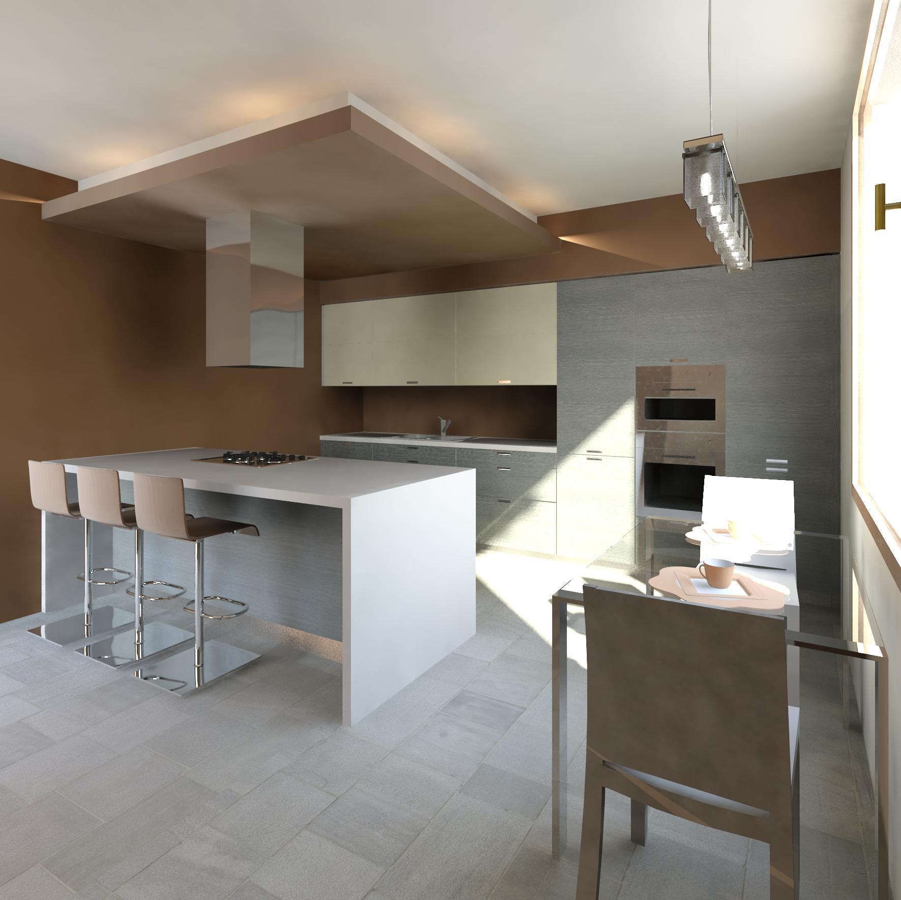 Progetto Cucina 3d. Progetto Rendering Cucina Valcucine Realizzato ...