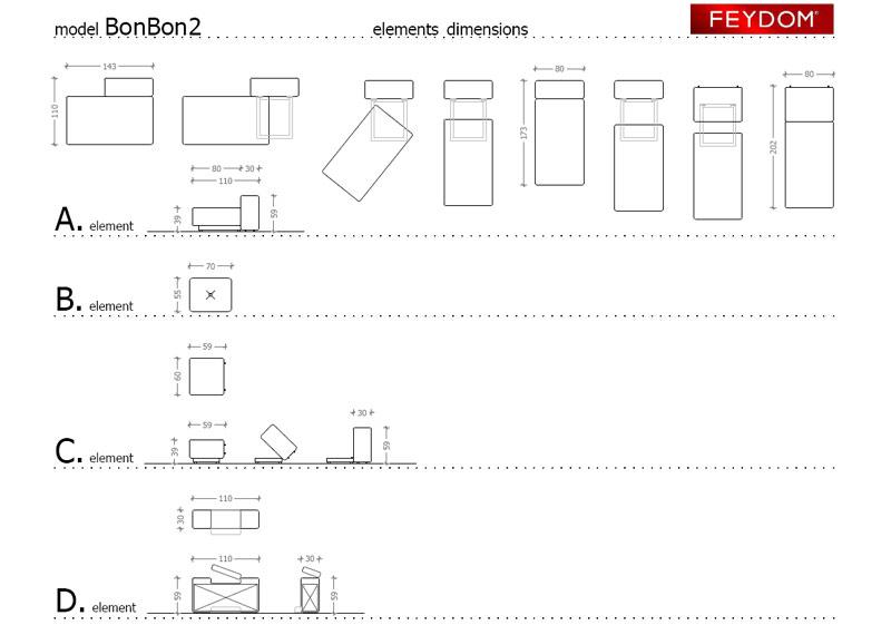 Divano Letto BonBon2 di Feydom   Arredamenti PJM International